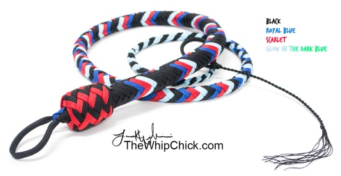Scarlet Blue Nylon Whip